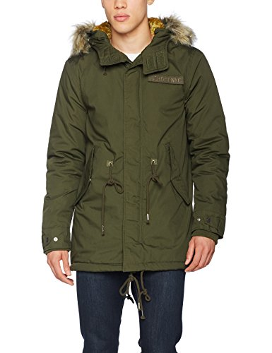 Schott NYC Mens Dark Kaki Army Parka Jacket M