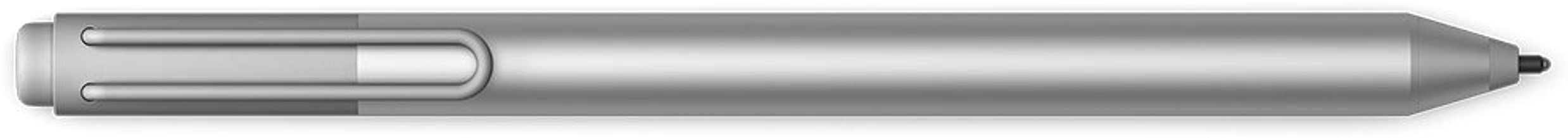 Microsoft Surface Pen, Silver (3XY-00001) for Surface 3; Surface Pro 3 & 4; Surface Book