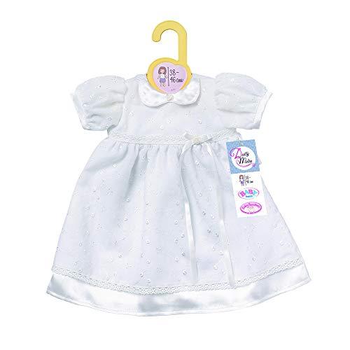 Zapf Creation 870341 Dolly Moda Taufkleid, Puppenkleidung 39-46 cm