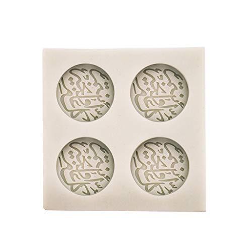 siwetg Silikonform mit arabischen Schriftarten, für Kuchen, Schokolade, Fondant, Dekoration, Küche, Arabisch, Ramadan, Silikonform