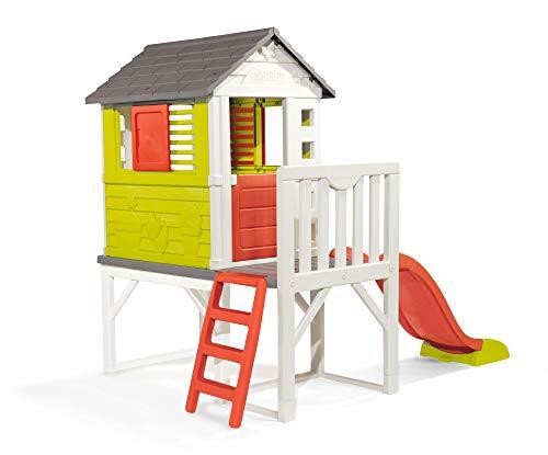 Smoby 810800 – Stelzenhaus - Spielhaus mit Rutsche, XL Spiel-Villa auf Stelzen, mit Fenstern, Tür, Veranda, Leiter, für Jungen und Mädchen ab 2 Jahren