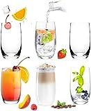 PLATINUX Elegante Trinkgläser aus Glas 280ml (max. 370ml) Set 6 Teilig Wassergläser Saftgläser Longdrinkgläser groß