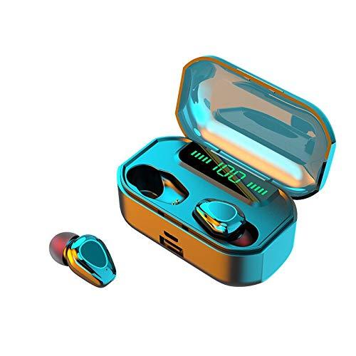 ist Präfekt für Streaming / Podcasting / Gaming TWS. Drahtlose Bluetooth Digital Display In-Ear-Kopfhörer Heavy Bass Music Gaming Kopfhörer Unterstützung Wireless Lade