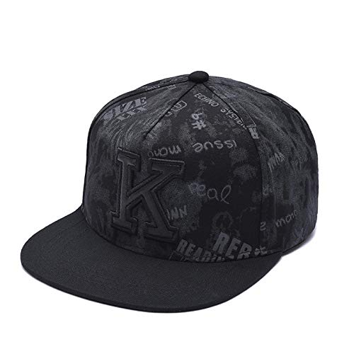 Sombrero Gorra De Béisbol Clásico Gorra De Béisbol con Letra K para Hombres Y Mujeres, Sombreros para El Sol Al Aire Lib