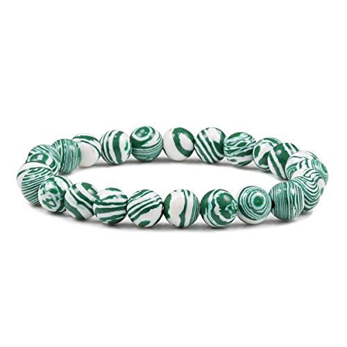 Grasschen Zylinder-Korn-Armband-Armbänder für Frauen-Männer-Armbänder Style 1