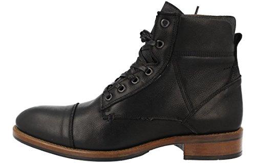 BULLBOXER Herren Stiefel 306K85508,Männer Boots,Lederstiefel,Schnürstiefel,Combat,Chukka,Blockabsatz,Grey,EU 45