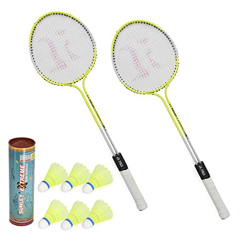 SUNLEYPhantomSetof2PieceBadmintonRacketwith6PieceNylonShuttle