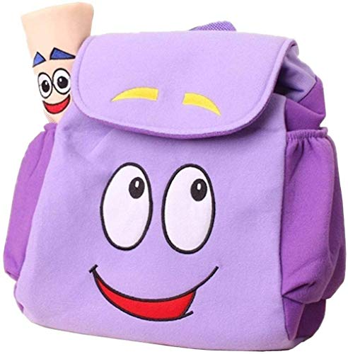 ANNIUP Mochila Explorer Mochila de rescate con mapa, mochila preescolar púrpura