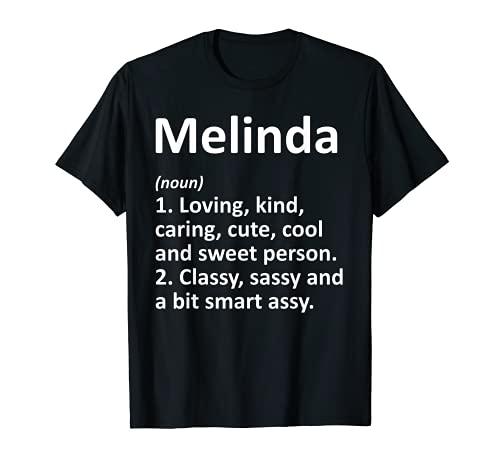 MELINDA - Idea de regalo de cumpleaños personalizable Camiseta