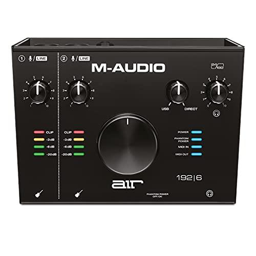 M-Audio AIR 192|6 - Scheda Audio e MIDI USB   USB-C, 2 Entrate, 2 Uscite per Registrazione Professionale su Mac o PC con Pacchetto Software incluso