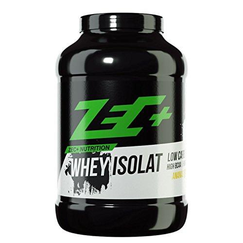 ZEC+ Whey Isolat – 1000 g, fettarmes Eiweißpulver aus reinem Molkenprotein, kalorienarmer Low Carb Protein Shake mit BCAAs & Glutamin, Proteinpulver Geschmack Ananas