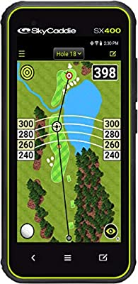 SkyCaddie SX400, Handheld Golf GPS with 4 inch Touch Display, Black, (Model: SX400 GPS)