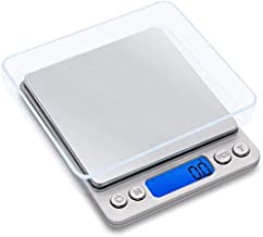 500g/0.01g Digital Kitchen Scale High Precision Portable Food Jewelry Drug Scale with Platform LCD Display Tare and PCS Fe...
