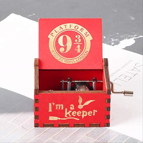 Caja de música de madera de manivela caliente Parque Jurásico Halloween You are My Sunshine cumpleaños decoración del hogar h p
