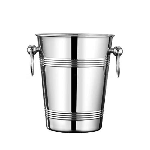 SHYPT Champagne Wine Kitchen Fiesta de Gran Capacidad Fácil Lifting Barware Barware Bucket Bebidas Refrigerador con Asas de Acero Inoxidable Durable