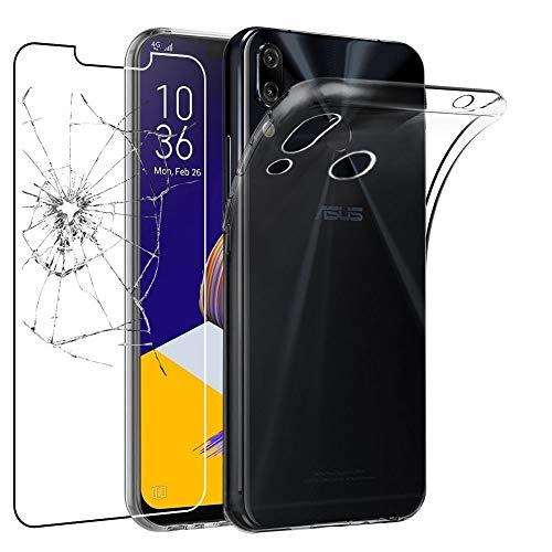 ebestStar - kompatibel mit Asus Zenfone 5 Hülle ZE620KL, 5Z ZS620KL Handyhülle [Ultra Dünn], Klar Flex Silikon Schutzhülle, Transparent +Panzerglas Schutzfolie [5/5Z: 153x75.7x7.9mm 6.2