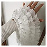 Hermosamente Cintas plisadas de lujo con cuentas de pliegon con cordones de...