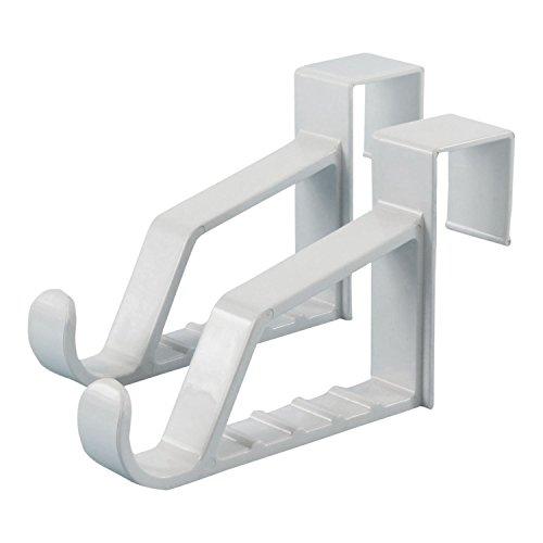 Hangerworld - Kunststoff Türhaken mit Bügelschiene -  Weiß - Türbreite max. 3,5cm