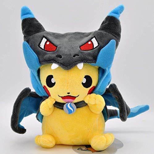 Pokemon Pikachu Lachen Cosplay Charizard X Plüschtier 22Cm, Niedliche Kuscheltiere Puppen Plüschtiere Kinder