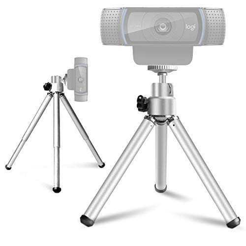 Lightweight Mini Tripod for Webcam, NexiGo Upgraded Extendable Tripod Stand, Compatible with Logitech Webcam C920 C922 C930e C920x Brio, for Vlogging, Live Streaming, Zoom Meeting