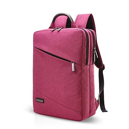 FANDARE unisex adulto 15.6 Inch Laptop Backpack Viaggio di lavoro Collegio Bag Zaino Daypack Schoolbag Bookbag lavoro Bicicletta Borsa a tracolla Rosso