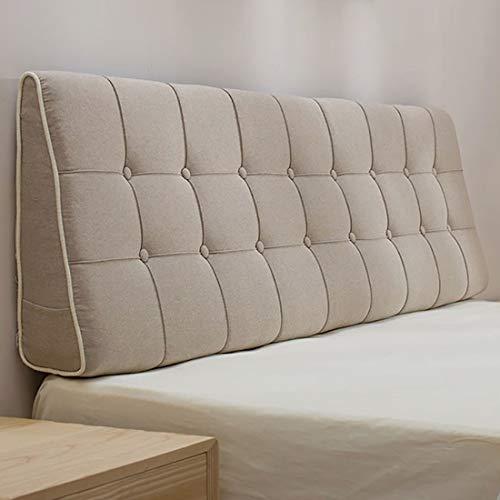 Respaldo cama cojines para sofa grandes Cojín cabecero pared almohada lumbar lino de la tela del cojín de la cama del respaldo transpirable suave de la caja del sofá cojín grande camas dobles Volver