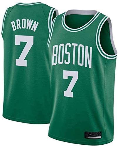 Jersey para Hombres - NBA Boston Celtics # 7 Jaylen Brown Jersey, Fan no Debe perderse/Malla Camiseta Transpirable Transpirable (Color : Green, Size : XX-Large)