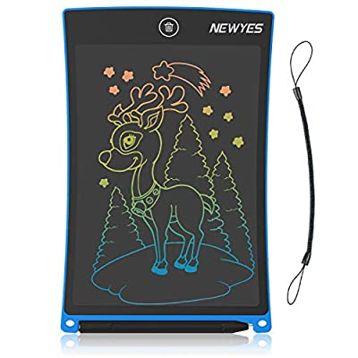 Amazon - Save 50%: NEWYES Doodle Board , 8.5-Inch LCD Writing Tablet Colorful Screen Erasable…