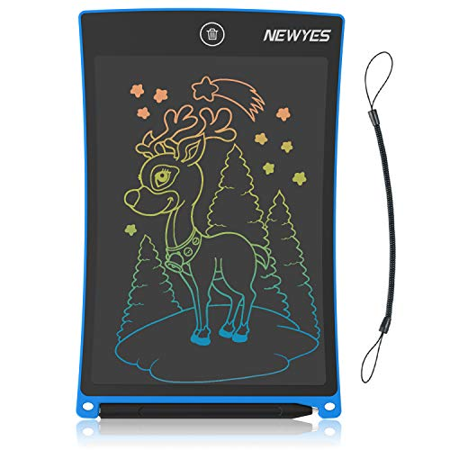 NEWYES LCD Writing Tablet 8.5 Inch Colorful Drawing Doodle Board Boy Toys for 3-6 Year Old Educational Gifts for Kids