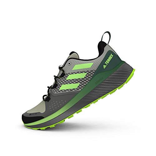 adidas Terrex FOLGIAN Hiker GTX, Zapatillas de Hiking Hombre, Gridos/NEGBÁS/VERSEN, 43 1/3 EU