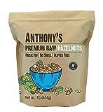 Anthony's Raw Hazelnuts, 1 lb, Gluten Free, Non GMO, Unsalted, No Shell