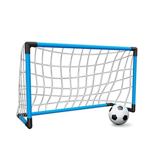 HONEI サッカーゴール サッカーボール 子供 サッカー 練習 室内 屋外用 3サイズゴール選べる 組み立て 簡易ゴール 空気入れ ネット付き (L)
