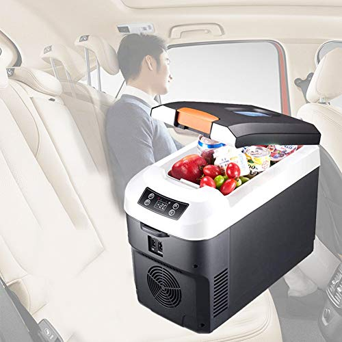 Review 10 L Car Cooler Warmer Portable Mini Truck Refrigerator 12V -10 to 65 Degrees Free Setting fo...