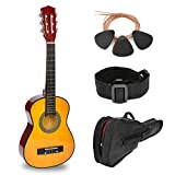 30' Natural Wood Guitar With Case and Accessories for Kids/Boys/Beginners