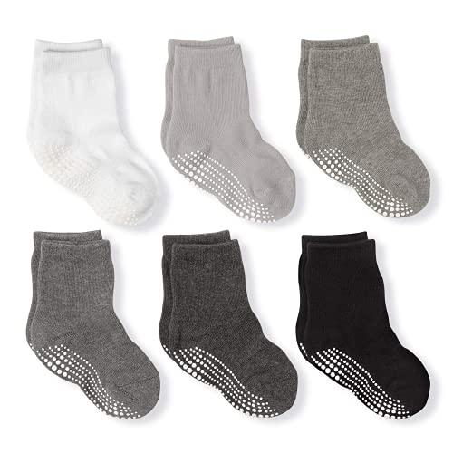 LA Active Stoppersocken - Kinder & Baby Socken 0-6 Monate bis 10 Jahre - Anti Rutsch Socken für Jungen und Mädchen - Kuschelig warme Kindersocken