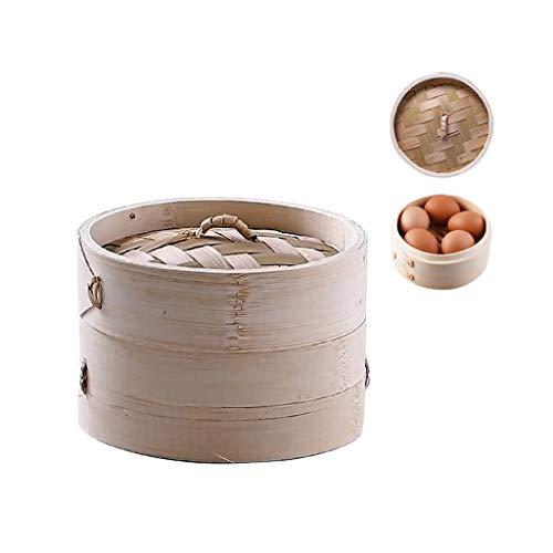 JOYKK 4 Inch keuken Bamboe Steamer Mand Aziatische voedsel Steamer voor Dim Sum Dumplings