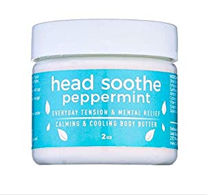 BEAT THE BRAIN FOG & TENSION | Head Soothe Peppermint is a powerfully fast-acting & gentle soothing butter made to calm the everyday tension & melt the stress away. Our hundreds of customers report applying it daily for headaches, migraines, stress, ...