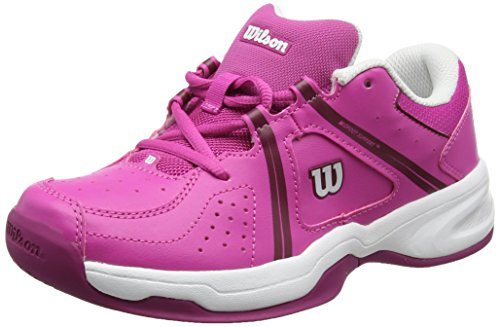 Wilson Envy Jr, Unisex-Kinder Tennisschuhe, Rosa/Weiß/Violett (Rose Violet/White/Boysen Berry), 38 1/3 EU