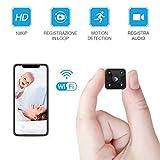 Mini Kamera FREDI WLAN HD 1080P Mini Überwachungskamera Nanny Security Kamera mit Bewegungserkennung und Infrarot Nachtsicht für iPhone/Android Phone/iPad