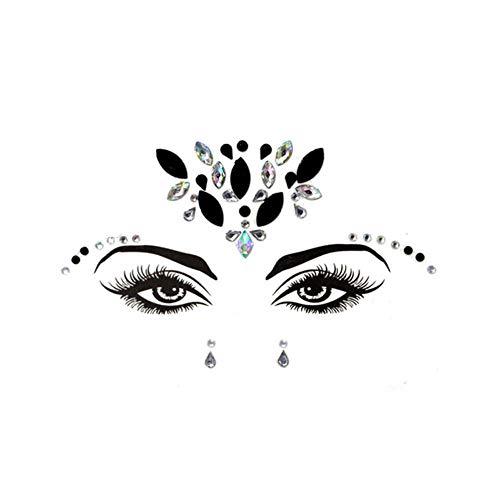 CTOBB Tijdelijke Strass Glitter Tattoo Stickers Gezicht Juwelen Gems Festival Party Make-up Lichaam Juwelen Flash Nep Tijdelijke Tattoos