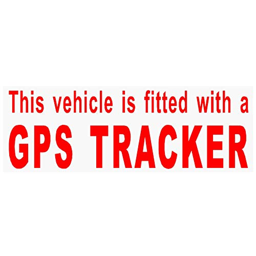 Platina plaats 4 x uitgerust met een GPS Tracker Security-RED op CLEAR-Stickers voor auto, busje, vrachtwagen, taxi, mini-taxi, bus, Coach Alarm Signs, waarschuwing, veiligheid, opmerking, bescherming, bescherming