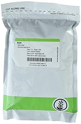 Genovese Basil Microgreens Seeds - Non-GMO Bulk Seed for Growing Micro Herbs, Indoor Gardening, Herb Garden, Micro Greens