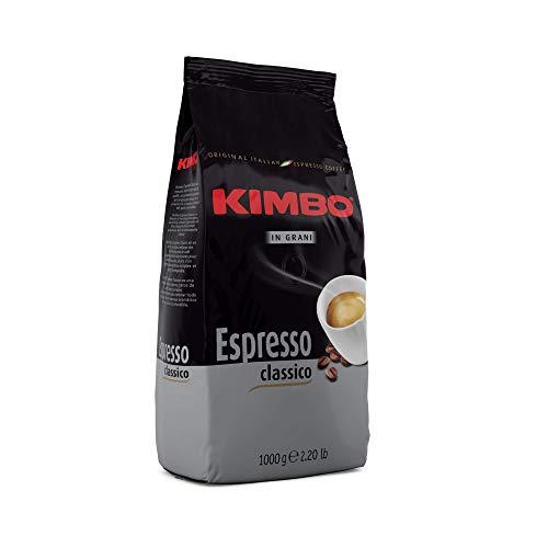 Kimbo Espresso Classico ganze Kaffeebohnen, mittlere Röstung, 1kg Beutel