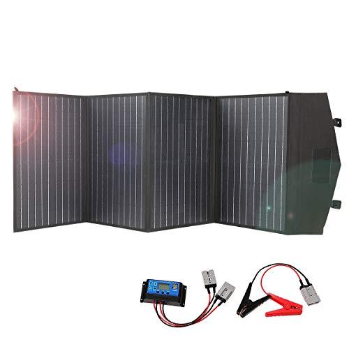 ROXTAK 100 Watt 18V Faltbar Solamodule, Monokristalline(Hohe Leistung) +Solar Controller, für Allen Handys, Solar Stromerzeuger Stromgenerato, Kamera, Tablet, Bluetooth Lautsprecher……
