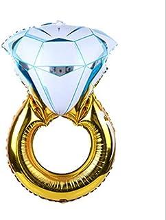 بالونات الهيليوم على شكل خاتم ماسي من الفويل للحفلات