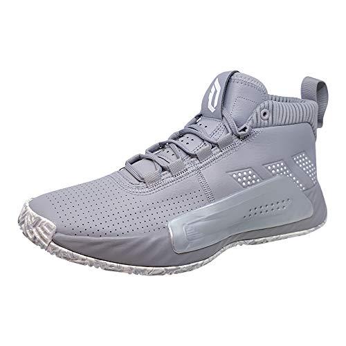 Adidas Dame 5 - Zapatillas de Baloncesto para Hombre, Gris (Ónix Claro/Blanco/Plata.), 45 EU