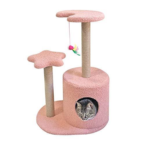 Árboles de Actividades para Gatos Gato columpio cuatro estaciones Disponible Gato Gato columpio nido del árbol del gato del gato jerarquía del animal doméstico del gato de juguete de sisal gato que sa