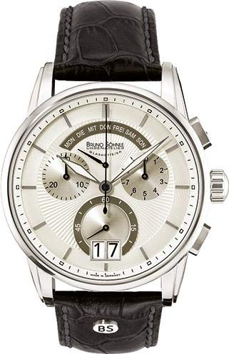 Bruno Söhnle Glashütte Herrenarmbanduhr Grandioso Leder Chronograph 17-13117-241 675