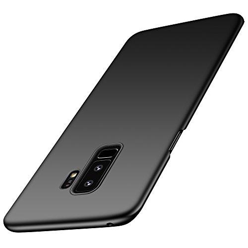anccer Cover per Samsung Galaxy S9 Plus [Serie Colorato] di Gomma Rigida Protezione da Cadute e Urti Compatibile con Samsung S9+ (Liscio Nero)