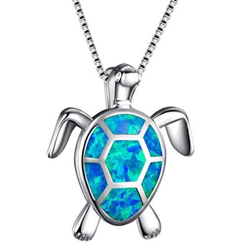 Collar con colgante de tortuga, estilo bohemio, collar con colgante de tortuga de plata, accesorios de joyería para mujeres y niñas